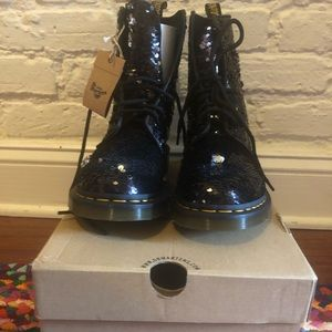 Brand new never worn sequin Dr. Martens!
